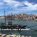 """Río Tejo en Oporto con texto """"Y si pudieses viajar al pasado?"""""""