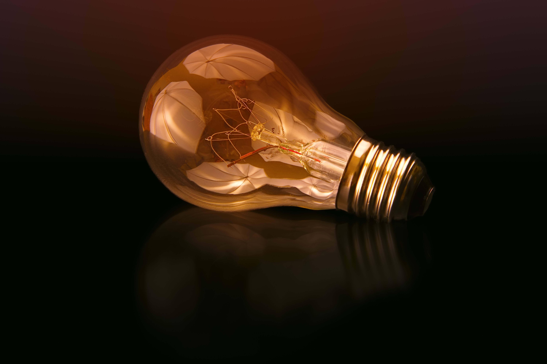 Bombilla. Representación de la generación de ideas